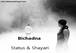 Bichadna hindi shayari status
